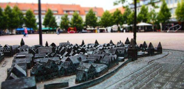 Das Stadtrelief der Hansestadt Uelzen © HUE