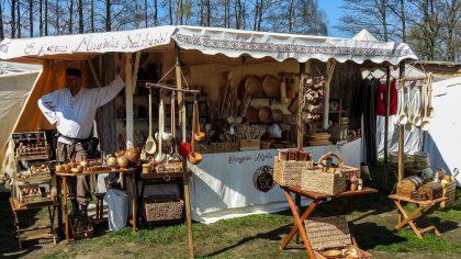 Holzwaren auf dem Hansefest Uelzen © Mittelalterverleih