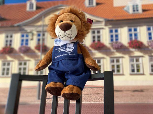 LEU - das Jubiläumsmaskottchen der Hansestadt Uelzen ©  Stadtmarketing Uelzen