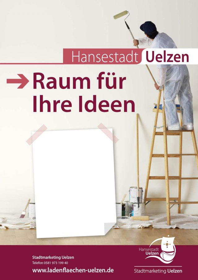 Ladenflächen Uelzen Plakate - Raum für Ideen (c) Stadtmarketing Uelzen